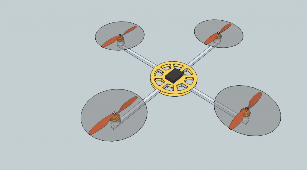 Quadcopter Platform SketchUp 2