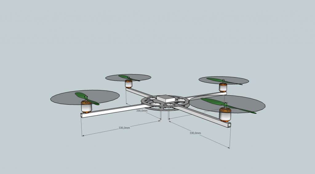 Quadcopter Platform SketchUp 3