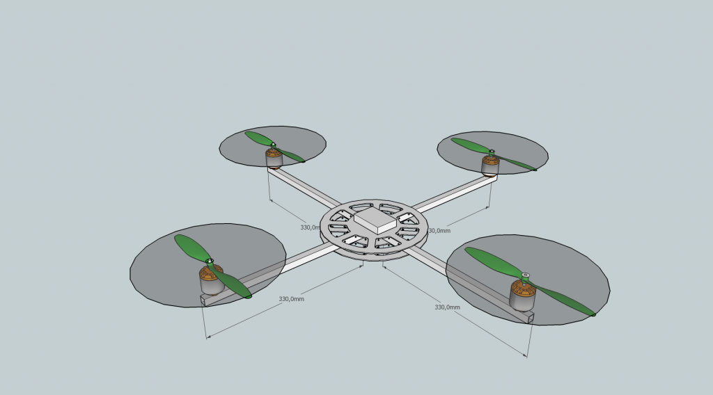 Quadcopter Platform SketchUp